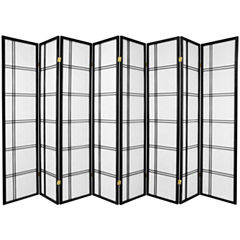 Oriental Furniture 6' Double Cross Shoji 8 Panel Room Divider
