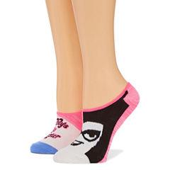 2 Pair Licensed Liner Socks - Womens
