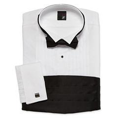 JF J. Ferrar® Tuxedo Shirt Set–Big & Tall