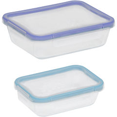Snapware® Total Solution 4-pc. Rectangular Glass Food Storage Set