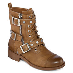 Style Charles Caden Womens Combat Boots