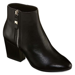 Liz Claiborne Leather Becky Womens Bootie