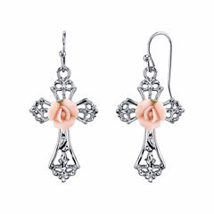 1928 Symbols Of Faith Religious Jewelry Drop Earrings