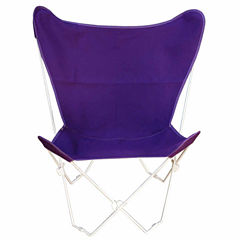 Butterfly Chair Cover With White Frame 2-pc. PatioLounge Chair