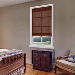 JCPenney Home Bamboo Woven Wood Cordless Roman Shade