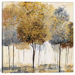 Icanvas Metallic Forest I Canvas Art