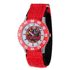 Guardian Of The Galaxy Marvel Boys Red Strap Watch-Wma000136