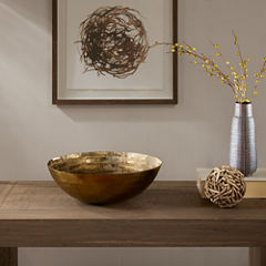 INK+IVY Orly Brass Decorative Bowl