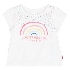 Levi's Short Sleeve Round Neck T-Shirt-Baby Girls