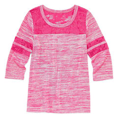Arizona 3/4 Sleeve Cozy Football Tee - Girls' 7-16 and Plus