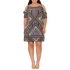 R & K Originals Short Sleeve Sheath Dress-Plus