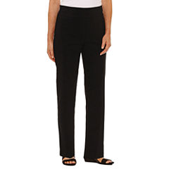 Alfred Dunner Closet Case Woven Flat Front Pants
