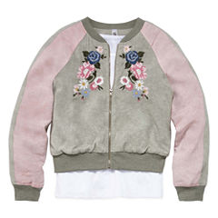 Knit Works 2pc. Long Sleeve Bomber Jacket with Top - Girls' 7-16