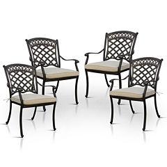 Silvon 4-pc. Patio Dining Chair