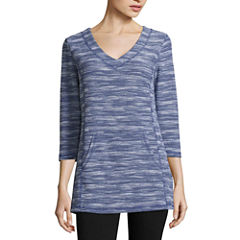 Liz Claiborne Kangaroo Pocket Tunic Top
