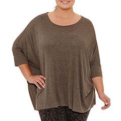 Xersion Short Sleeve Crew Neck T-Shirt-Womens Plus
