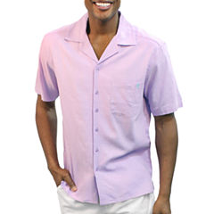 Steve Harvey Short Sleeve Button-Front Shirt