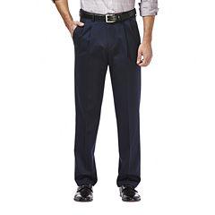 Haggar® Premium No Iron Classic-Fit Pleated Khakis