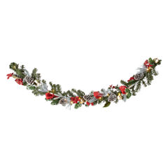 North Pole Trading Co. 6ft Pine Cone Pre-Lit Led Christmas Garland