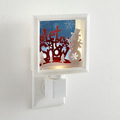 North Pole Trading Co. Let It Snow Night Light