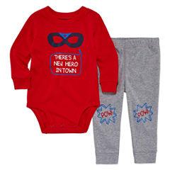 Okie Dokie 2-pc Long Sleeve Bodysuit Set-Baby Boys