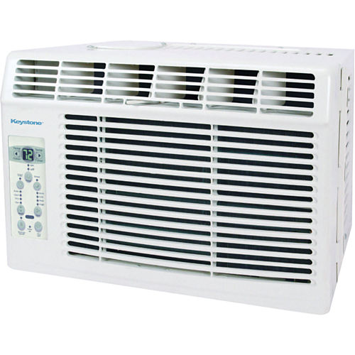 Keystone 5000 BTU Window-Mounted Air Conditioner with Follow Me LCD Remote Control