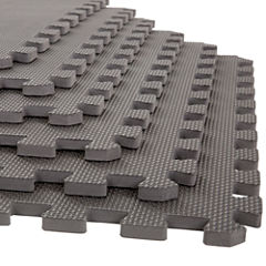 Stalwart 6-pack Gray Interlocking EVA Foam Floor Mats