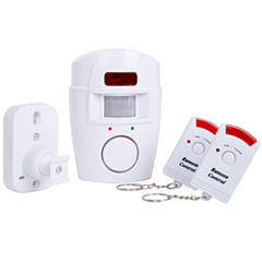 Everyday Home Wireless Motion Sensor Alarm with Two Wireless Remotes