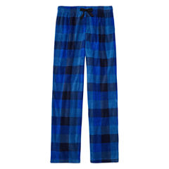 Arizona Microfleece Blue Plaid Pajama Pant-Boys 4-20 & Husky