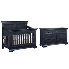 Ozlo Baby Galloway 2-PC Baby Furniture Set-Navy Mist