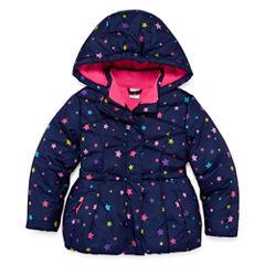 Okie Dokie Heavyweight Star Puffer Jacket - Girls-Toddler