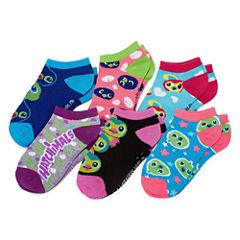 Hatchimals Girls 6 Pair No Show Socks-Big Kid