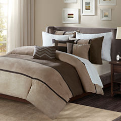 Madison Park Warner Polyester Microsuede 6-pc. Duvet Cover Set