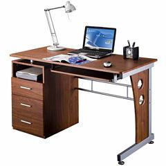 RTA Products LLC Techni Mobili Computer Desk with Ample Storage