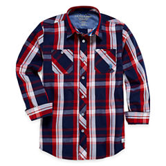 U.S. Polo Assn. Long Sleeve Button-Front Shirt Boys