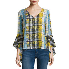 Project Runway V-neck Bell Sleeve Top