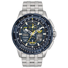 Citizen Mens Silver Tone Bracelet Watch-Jy8058-50l