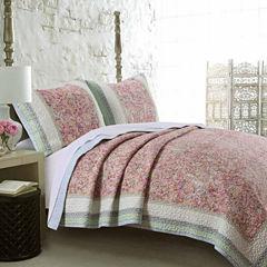 Barefoot Bungalow Palisades Floral Quilt Set