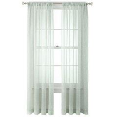 JCPenney Home™ Libbie Paisley Rod-Pocket Sheer Panel