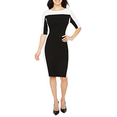 Melrose Elbow Sleeve Sheath Dress