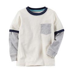 Carter's Long Sleeve Pocket T-Shirt-Baby Boys