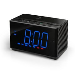 Memorex™ MC5550 Auto-Time NFC Bluetooth Clock Radio