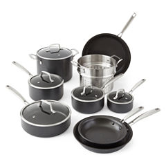 Cooks Signature 14-pc. Hard-Anodized Cookware Set
