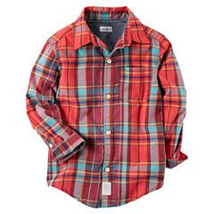 Carter's Long Sleeve Shirt-Preschool Boys