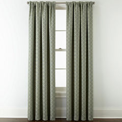 JCPenney Home™ Quinn Lattice Rod-Pocket/Back-Tab Curtain Panel