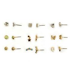 Carole 9 Pair Multi Color Earring Sets