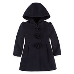 S Rothschild Girls Midweight Peacoat-Toddler