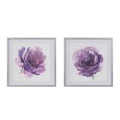 Madison Park Purple Ladies Rose 2-pc. Floral Print