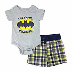 2-pc. Batman Bodysuit Set Newborn Boys