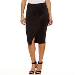 Bold Elements Cross Over Pencil Skirt